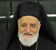 De Grieks-Melkitische patriarch Laham © Philippe Keulemans