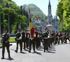 Leerlingen van de militaire school in 2016 in Lourdes © Katholieke aalmoezeniersdienst
