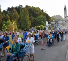 Kaarsjesprocessie in Lourdes © Inge Cordemans