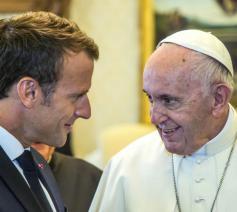 President Macron en paus Franciscus © SIR