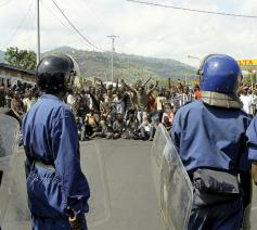 Manifestatie in Burundi in 2015 © Teddy Mazina - Broederlijk Delen