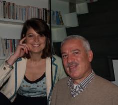 Marie Thibaut de Maisières et Simon Najm, de auteurs van Chrétiens d'Orient - Mon Amour © Benoit Lannoo