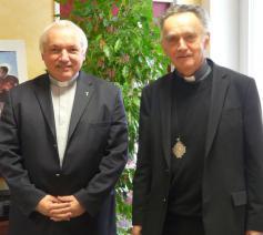 De nieuwe aartsbisschop Jean-Marc Aveline en zijn voorganger Georges Pontier © Aartsbisdom Marseille