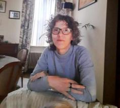 Martine Van Cauter (51) ontving op 3 april 2021 het doopsel in de Sint-Baafskathedraal. © Martine Van Cauter