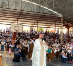 Nuntius Franco Coppola in Aguililla © Bisdom Apantzigan