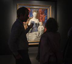 Madonna omringd door serafijnen en cherubijnen van Jean Fouquet © Ans Brys