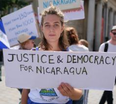 Bij protesten tegen de regering-Ortega vielen sinds april 2018 al minstens 300 doden. © CC Flickr