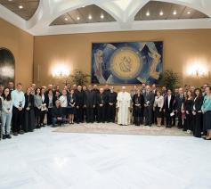 Paus Franciscus ontmoette 35 astrofysisci en astronomen © Osservatore Romeno/RV
