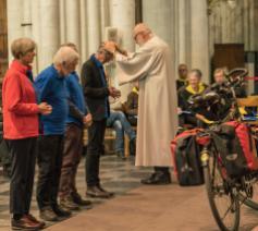 Pelgrimszegen 2019 © Dees Van Caeyzeele/Vlaams Compostelagenootschap