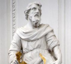 Paulusbeeld in de Abdij van Vlierbeek © Mia Verbanck