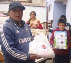 Caritas Peru ging dadelijk met de hulpverlening van start © Caritas Peru