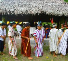 Peruaanse inheemsen maken zich klaar voor de komst van de paus © SIR