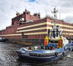 Drijvende kernreactor in Rusland, bedoeld voor het noordpoolgebied. © © Belga Image