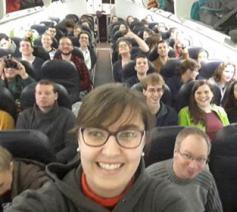 De Vlaamse deelnemers aan de Taizé-jongerenontmoeting in Riga: bescheiden in aantal, maar daarom niet minder enthousiast © Leen Nuyts - IJD