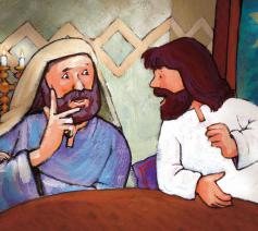 Nikodemus bij Jezus © Roel Ottow