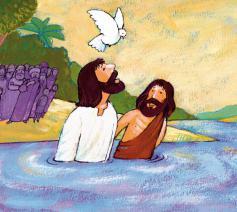 Jezus wordt gedoopt © Roel Ottow in Hosannah
