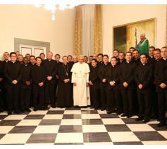 Paus Franciscus tijdens een vorige ontmoeting met de diplomaten © Radio Vaticana
