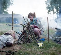 Op soutskamp in Saint-Momelin © Thomas De Bie/Scouts en Gidsen Vlaanderen