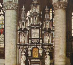 Sacramentstoren uit 1604, vóór de restauratie