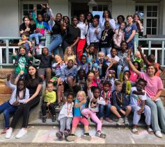 Vakantie voor kinderen in de School van Vrede van Hoboken  © Sant'Egidio