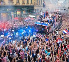 De Kroaten werden al helden onthaald bij hun terugkeer. © Twitter
