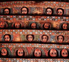 De Debre Berhan Selassiekerk in Gondar (Ethiopië). © Uitgeverij Davidsfonds