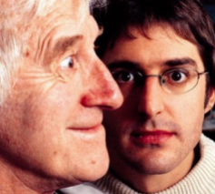 Jimmy Savile and Louis Theroux. © BBC