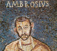 Een vijfde-eeuwse mozaïek van Sint-Ambrosius © RR