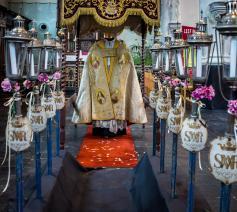 Beeld van een tentoonstelling over de processie in Erpe-Mere © Jean-Pierre Swirko