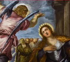 'De Heilige Catharina' van Tintoretto (detail). © Rubenshuis