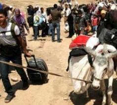 Vluchtelingen verlaten Oost-Syrië © Kerk in Nood Nederland