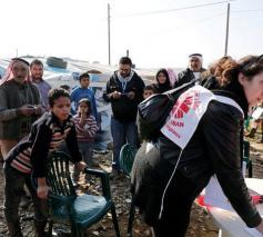 Caritashulpverlening in een vluchtelingenkamp © Caritas Zwitserland