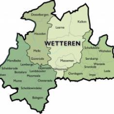 Kaart Dekenaat Wetteren © Bisdom Gent