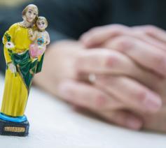 De heilige Jozef is mijn metgezel, een vaderfiguur. Hij laat me nooit in de steek. © Frank Bahnmüller