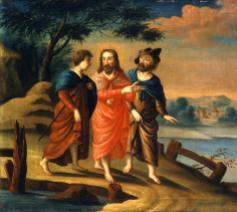 Christus met twee leerlingen op weg naar Emmaüs. © National Gallery Washington / Flickr Jim Forest
