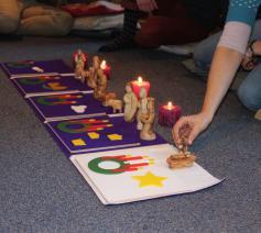 Het Godly Play verhaal van de advent © Lieve Wouters