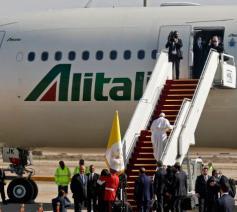 Sinds paus Paulus VI hebben pausen steeds met Al Italia gereisd © Vatican Media