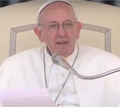 Paus Franciscus tijdens de algemene audiëntie van woensdag 21 juni 2017 © CTV