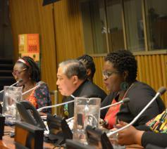 Aartsbisschop Auzo tijdens de VN sessie over vrouwen in Afrika © Holy See Mision to the UN