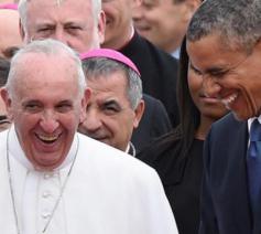 Paus Franciscus met president Obama © SIR