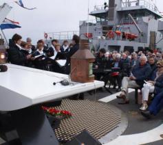 Viering van het Apostolaat ter Zee aan boord van een schip © Apostolaat ter Zee