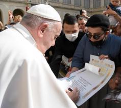 Paus Franciscus tijdens de audiëntie vanmorgen © Vatican Media