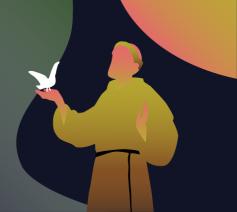 Leer bidden zoals de heilige Franciscus van Assisi © Illustratie: Sim D'Hertefelt