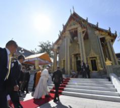 De paus bezocht boeddhistische tempel en klooster © Vatican Media