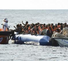 Bootvluchtelingen op de Middellandse Zee © Caritas International