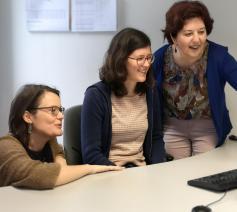 Van links naar rechts: Liselotte Anckaert, Marieke VanderSchaeghe, Tonia Noterman © Sim D'Hertefelt