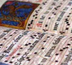 Middeleeuws manuscript met gregoriaans © Pixabay