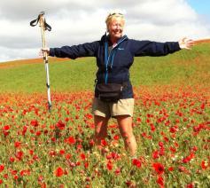 Ingrid Verduyn is onderneemster, bestuurder bij SPES en een hartstochtelijk Caminoganger. © Ingrid Verduyn