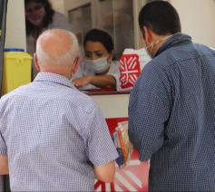 Caritas heeft twee grote mobiele hulpposten opgezet © Caritas Libanon