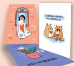 Illustratrice Laura Janssens tekende 3 kaarten © Caritas Vlaanderen